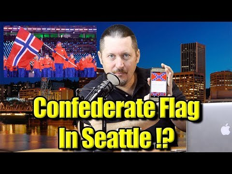 Is That A Confederate Flag in Seattle? Or Norwegian?