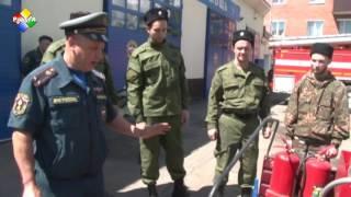 Казаки Аверкиевского ХКО ОКО МО ВКО ЦКВ прошли обучение на базе пожарной части № 41
