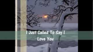J Just Called To Say I Love You - Stevie Wonder - Traduzione in Italiano
