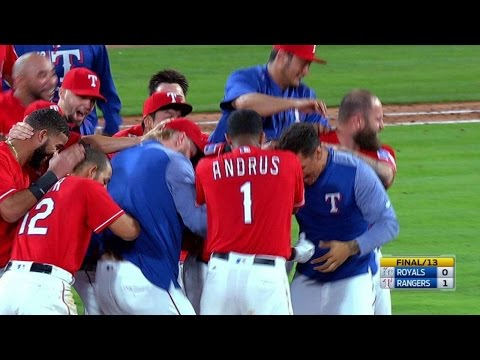 DeShields knocks walk-off single in the 13th