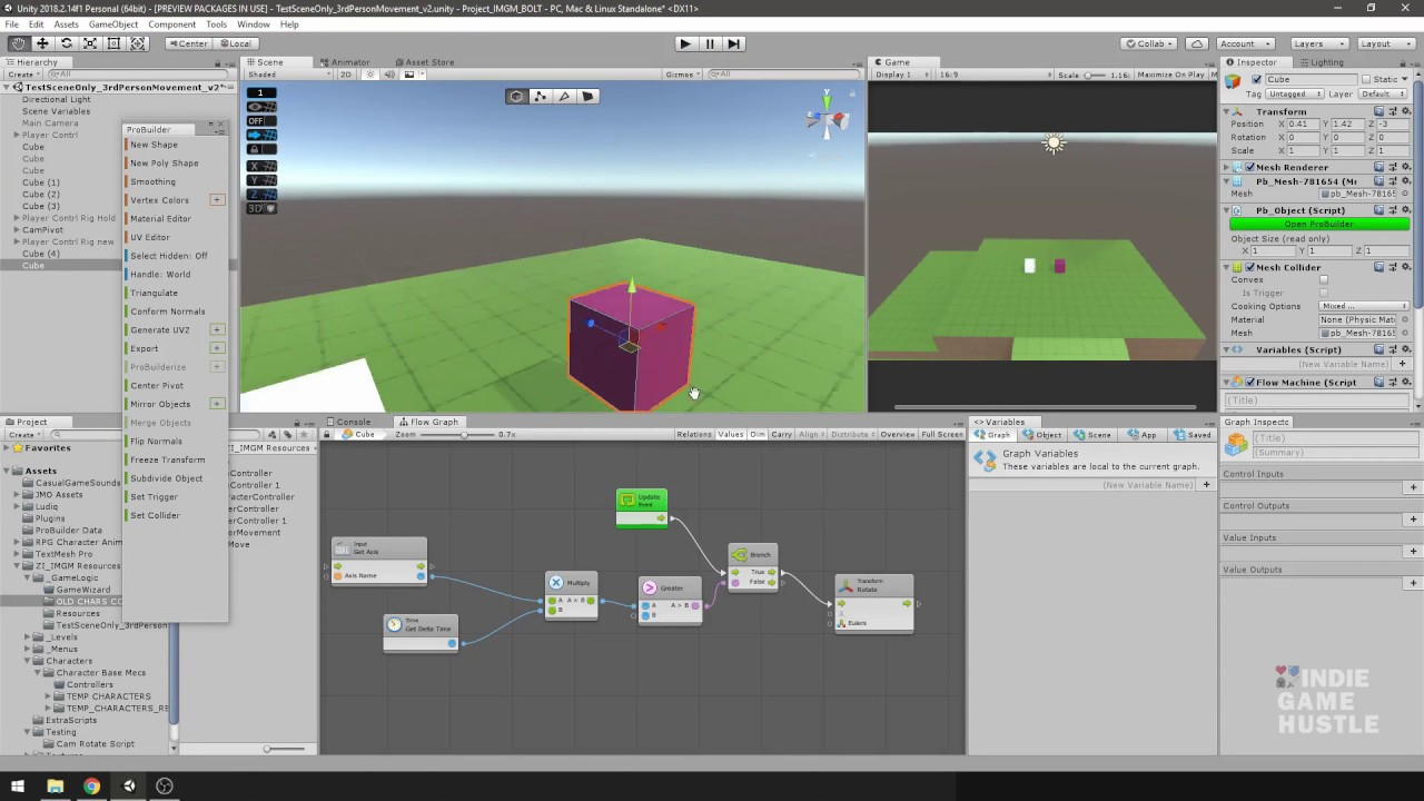 Need to move your Unity Probuilder objects?
