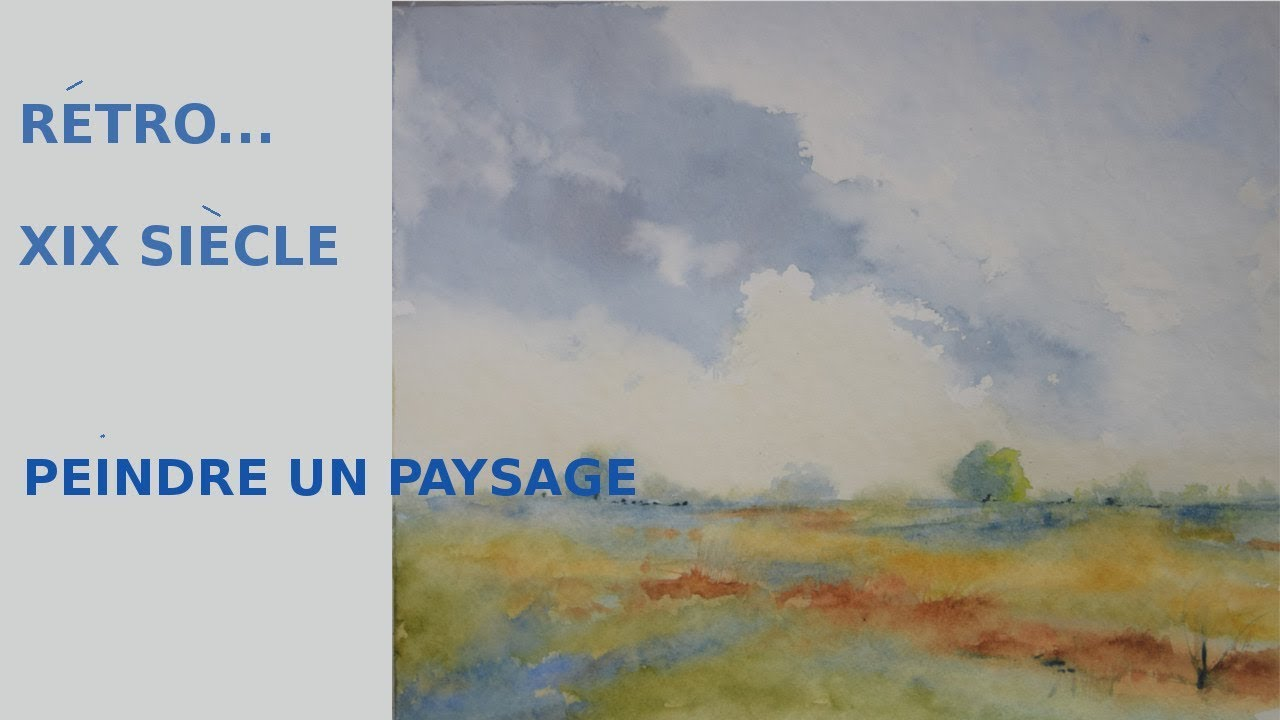 Connu PEINDRE UN PAYSAGE A L' AQUARELLE ! DYNAMISER SON TRAIT - YouTube DM21