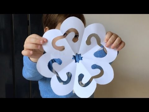 Easy Paper Snowflake Tutorial For Kids. Christmas Crafts