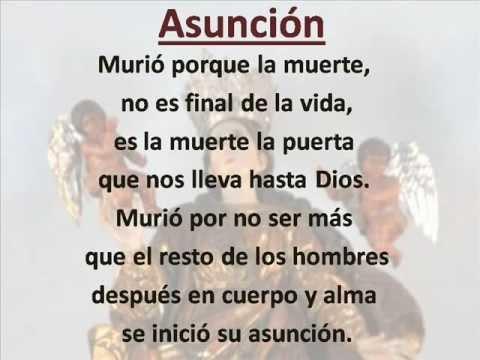 Asunción. (con letra)
