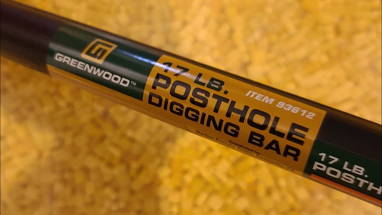 Harbor Freight Greenwood Forged 72 Inch Post Digging Tamping Bar Review Youtube