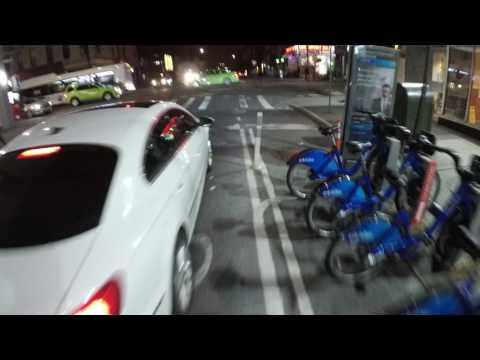NYC Cycling Williamsburg to Astoria at Night via Bedford Ave & Pulaski Bridge