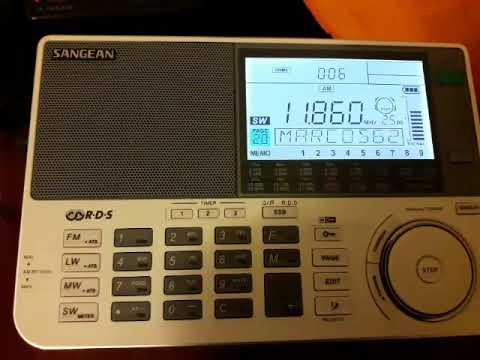 Radio Sanna 11860 khz Sangean ATS-909x + Sony AN-LP1 desde Mendoza (ARG)
