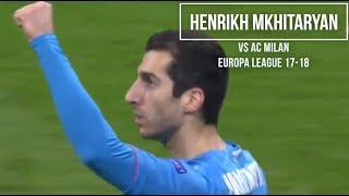 Henrikh Mkhitaryan vs AC Milan (Away) HD 720p - AC Milan vs Arsenal 0-2