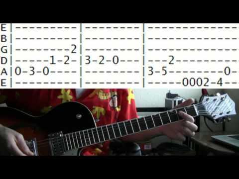 guitar lesson Munsters theme tab
