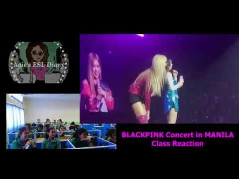 BLACKPINK In MANILA Concert Class Reaction
