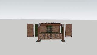 Rustic Elegant Cedar Plank Bars Wood Panels Boxwood and Arbor