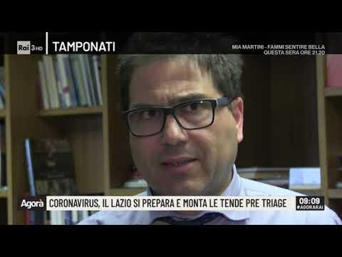 Coronavirus, il Lazio si prepara e monta le tende pre triage - Agorà 27/02/2020