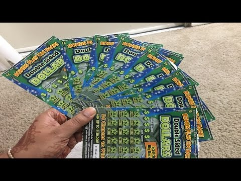 50 double sided dollars scratch off lottery tickets. Black Bedroom Furniture Sets. Home Design Ideas
