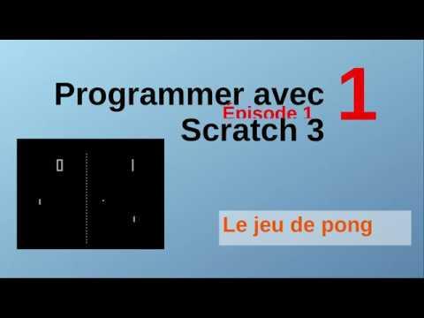 Le jeu de pong avec Scratch. Épisode 1