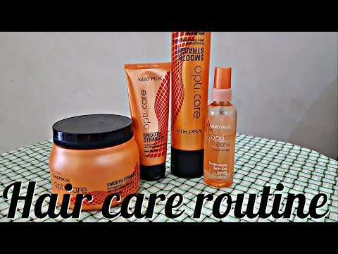 Proffessional Hair care routine |Matrix shampoo and spa review