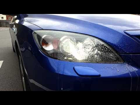 Slow motion xenon headlight washers mazda 3 🚗 - YouTube