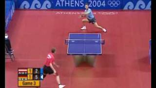 Olympics 2004 : Werner Schlager vs Timo Boll