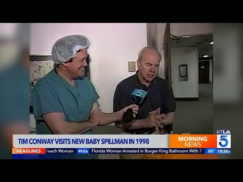 Tim Conway Visits New Baby Spillman in 1998