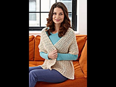 How To Crochet A Shawl Lion Brand Pattern Yolanda Soto Lopez