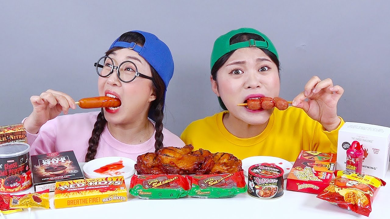 Spicy Food Fire Noodle DONA Mukbang