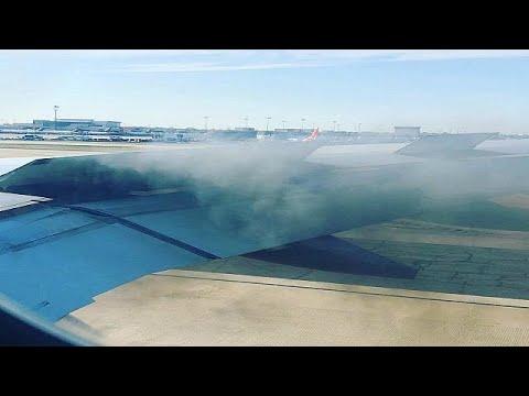شاهد: هبوط اضطراري لطائرة أمريكية بعد اشتعال النيران في المحرك  - نشر قبل 2 ساعة