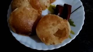 Tasty and crispy meethi Puri/ Indian Thali