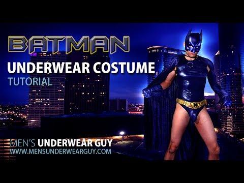 Batman Underwear Costume Tutorial by Men's Underwear Guy