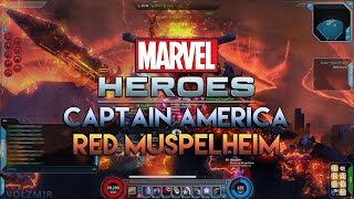 marvel heroes 2015 clearing red muspelheim with captain america gameplay   cap aoe build
