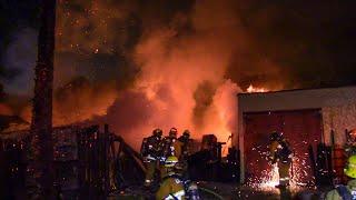 LAFD & LACo.FD Handle Structure Fire