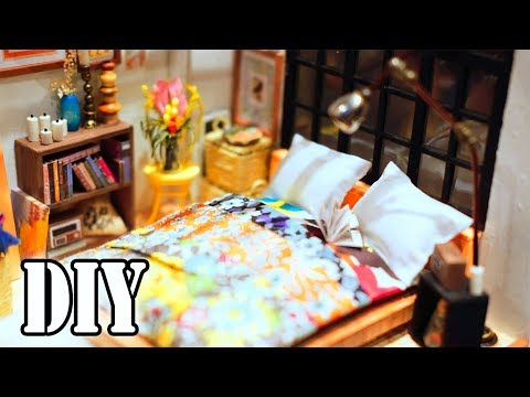 DIY Miniature Dollhouse Kit || Dreamy Bedroom ( With Full Furniture & Lights )