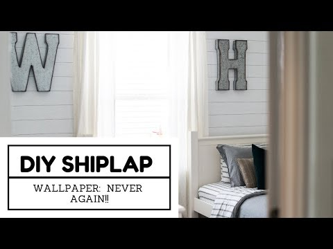 DIY Shiplap Wallpaper: NEVER AGAIN!! - YouTube