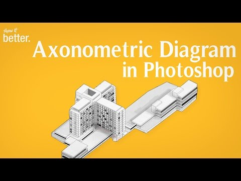 Easy Axonometric Diagram  Tutorial with Sketchup and Photoshop