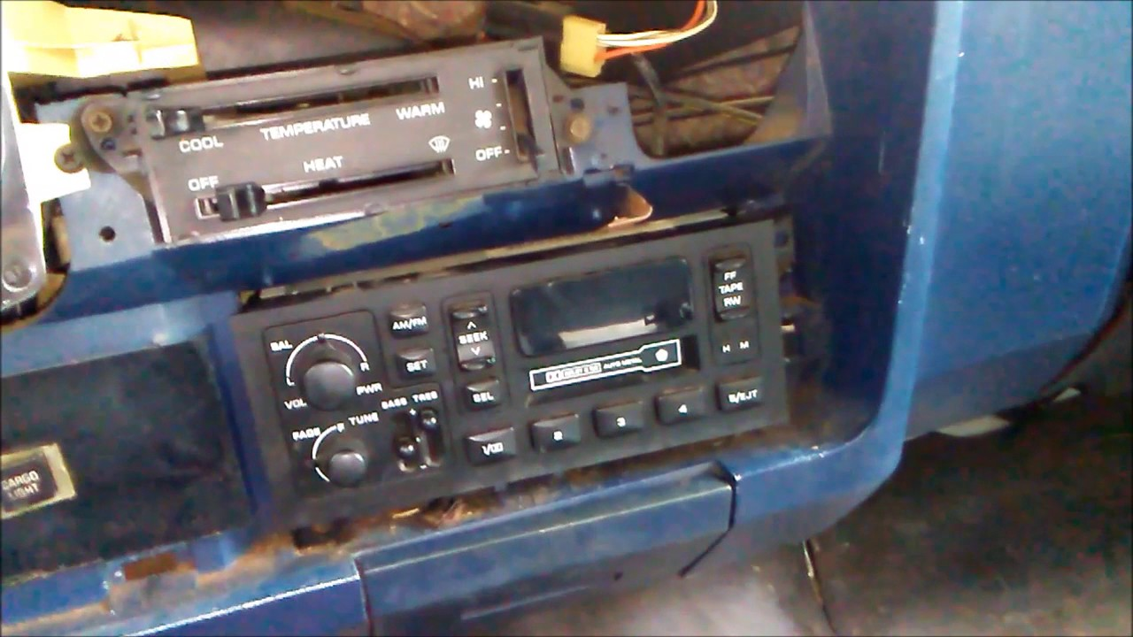 small resolution of 1984 dodge d150 pioneer deh 150mp head unit install