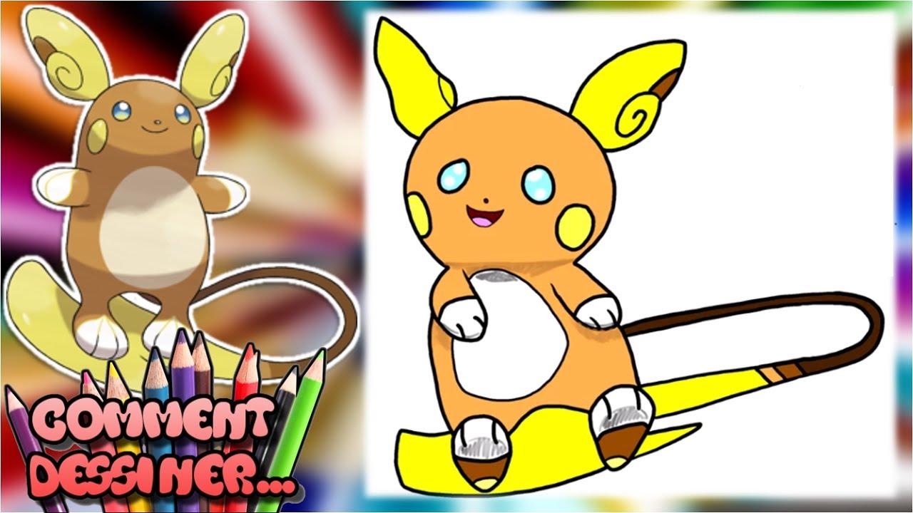 Comment Dessiner Raichu D Alola Tutoriel Dessin Pokémon Soleil Et Lune
