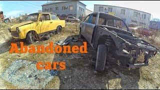 Abandoned BMW e21. Abandoned Trabant. Old cars abandoned. Vehicles abandoned
