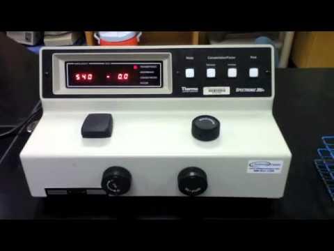 Lab Protocol - Spectronic 20D (Unit 2 Spectrophotometry) - YouTube
