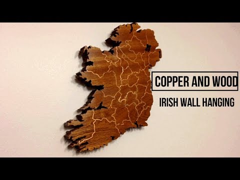 Copper and Wood - Irish  Map Wire Inlay