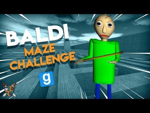 BALDI MAZE RUN CHALLENGE   Gmod Sandbox Baldis Basics Fun