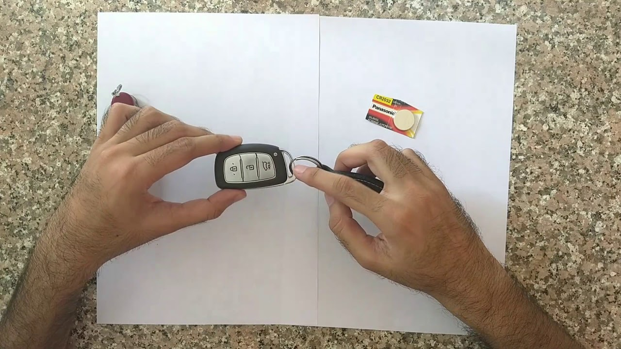Quick Hyundai Smart Key Battery Change Process Youtube