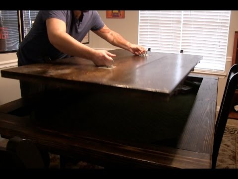 DINING TABLE WITH HIDDEN TABLE TOP BOARD GAMING AREA - HOW TO