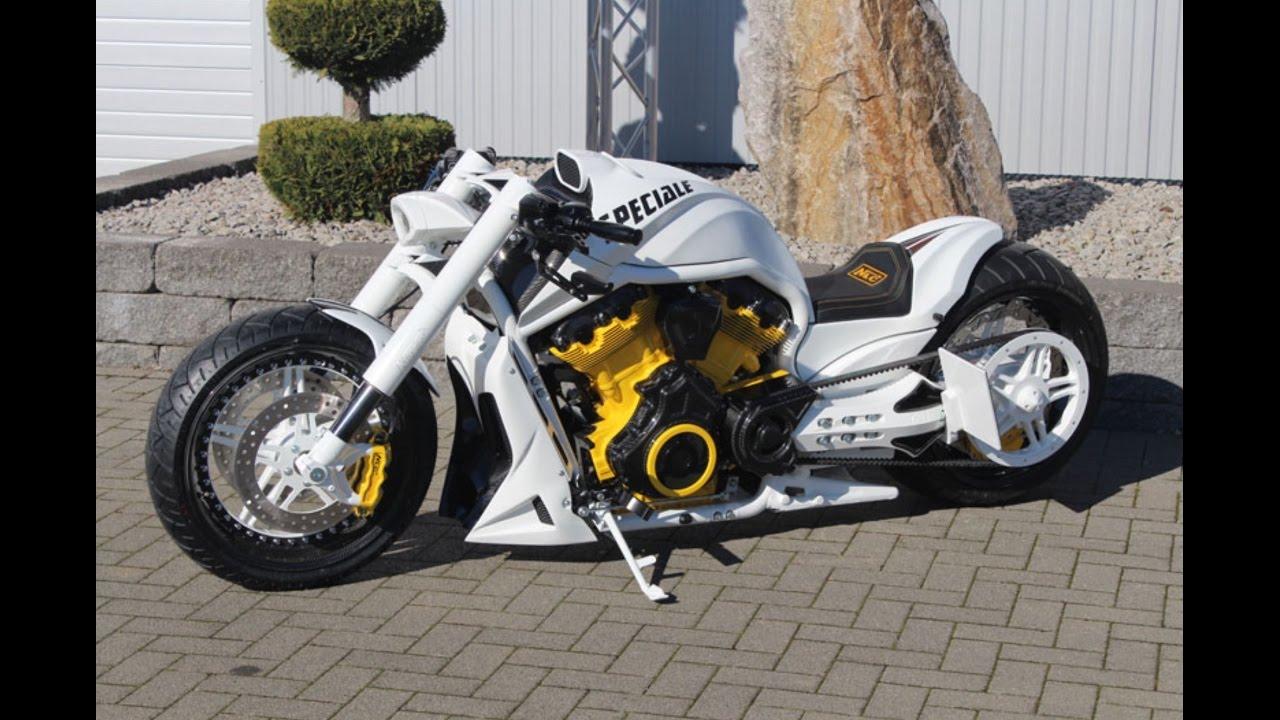 White Harley Davidson: White Harley Davidson V Rod VRSCDX No Limit Custom