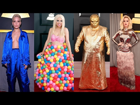 best amp worst dressed grammy awards 2017 doovi