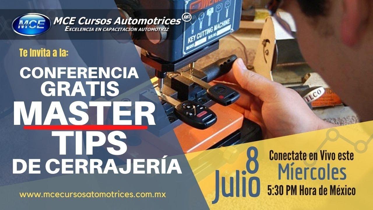8 Jul - Conferencia Gratis Master Tips de Cerrajería