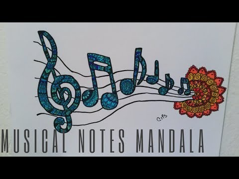 MUSICAL NOTES MANDALA / ZENTANLGE ART