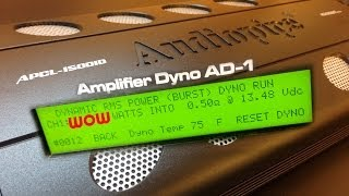 audiopipe apcl 15001d smd amp dyno dynamic power at 0 5 ohms wow