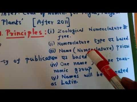 International Code of Botanical Nomenclature part2