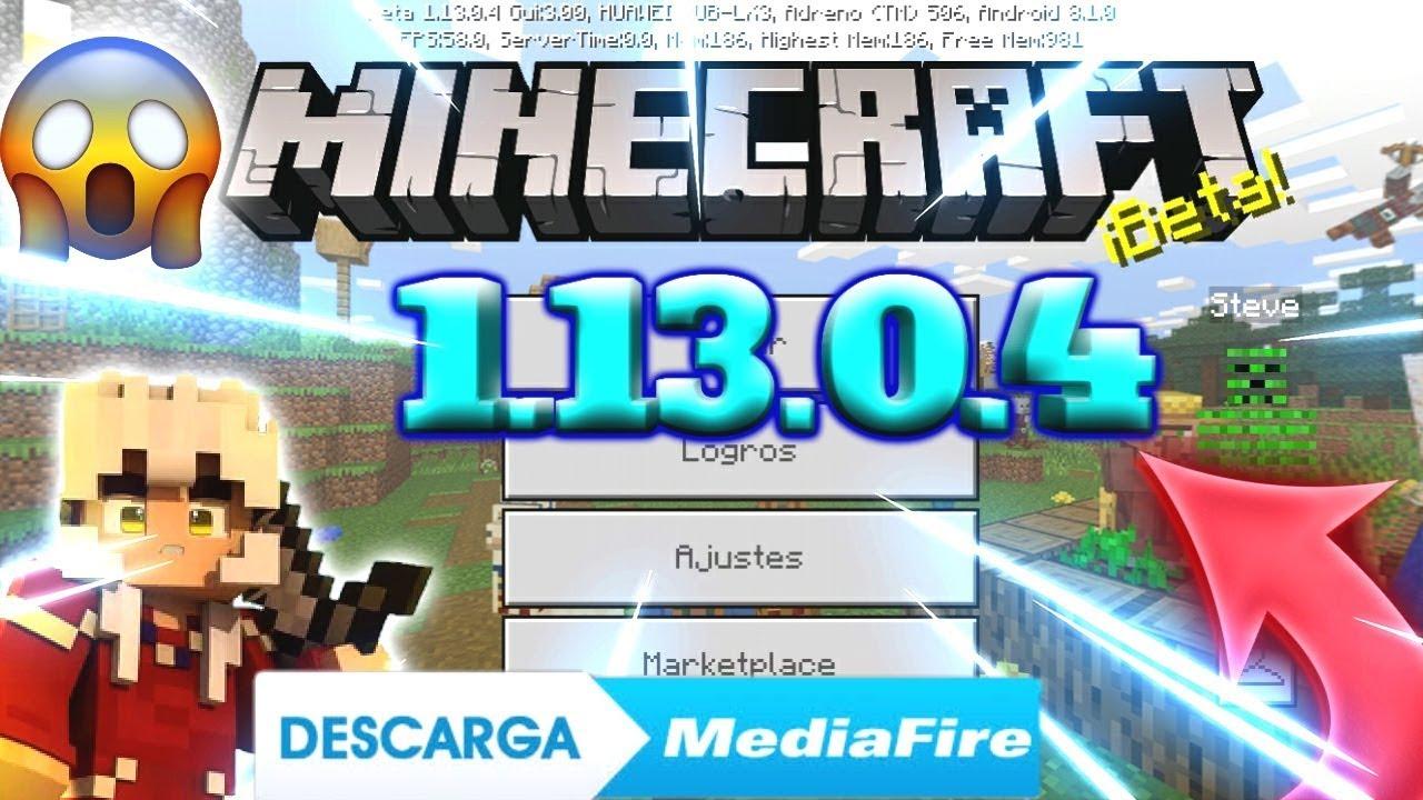 DESCARGAR MINECRAFT PE 1.13.0.4 Apk Sin Licencia Ultima versión - YouTube