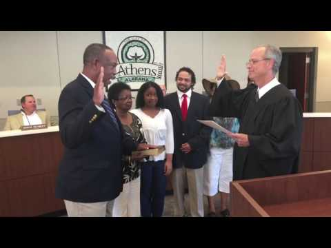 Frank Travis - Swearing In on Athens Alabama City Council