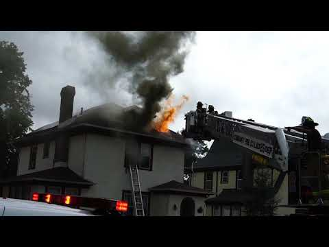 FRANKLIN SOMERSET NEW JERSEY WORKING HOUSE FIRE 9/17/18 SOMERSET COUNTY 3RD ALARM FIRE