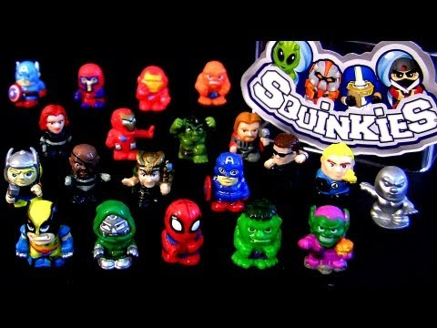 Squinkies MARVEL the Avengers toys Captain America, Thor, Spider-man ...